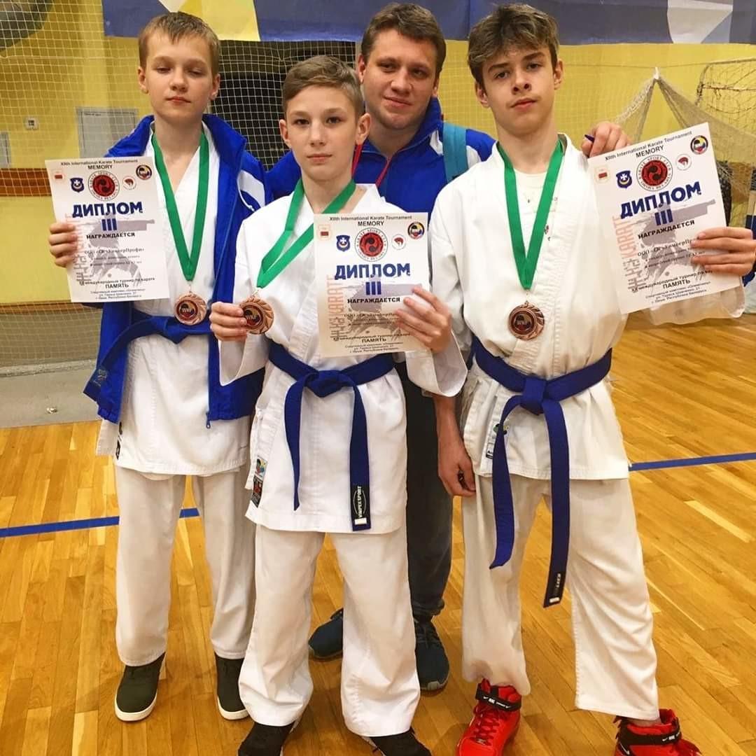 Девять медалей завоевали учащиеся бобруйской школы каратэ