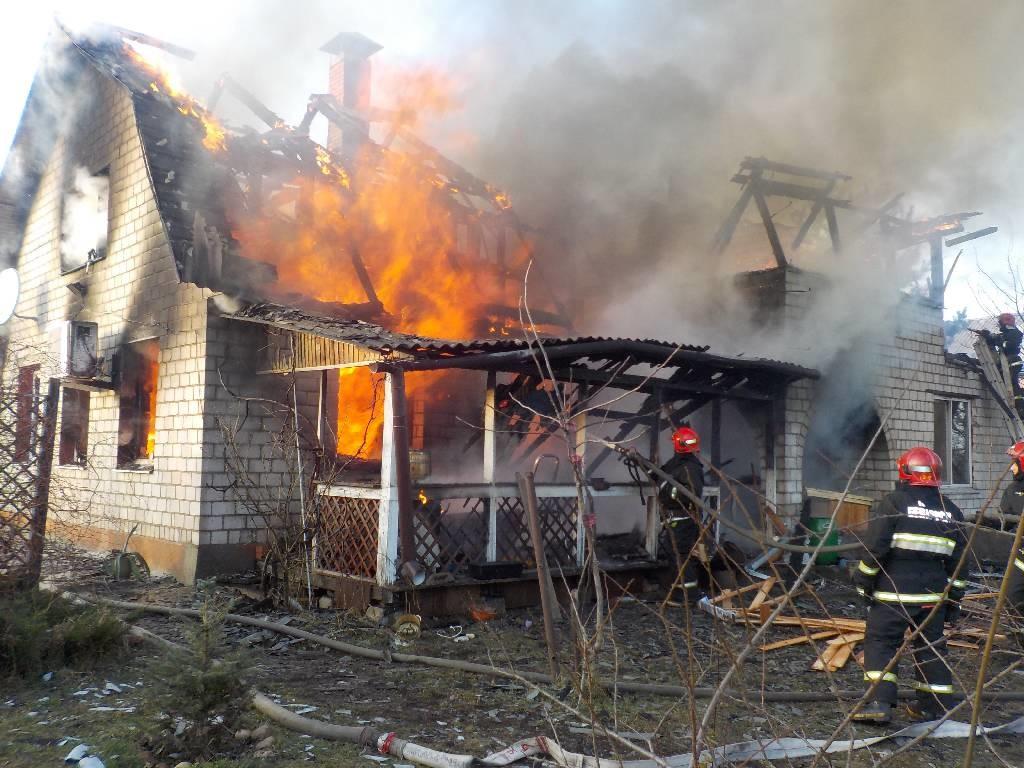 Крупный пожар в Доманово