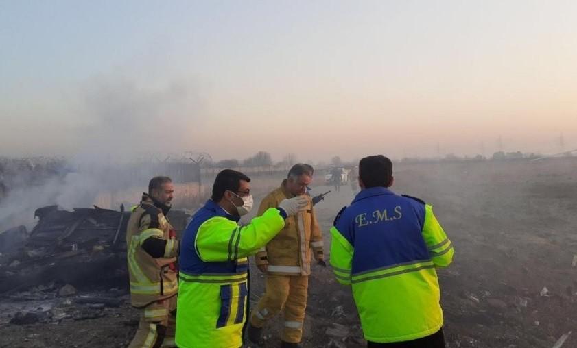 В Тегеране рухнул украинский самолет с 170 пассажирами на борту