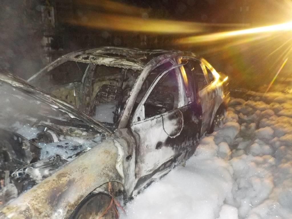 В Бобруйском районе на пожаре сгорела легковушка