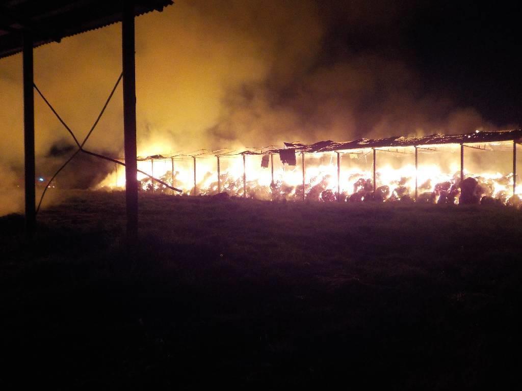 Под Бобруйском сгорело сто тонн сена