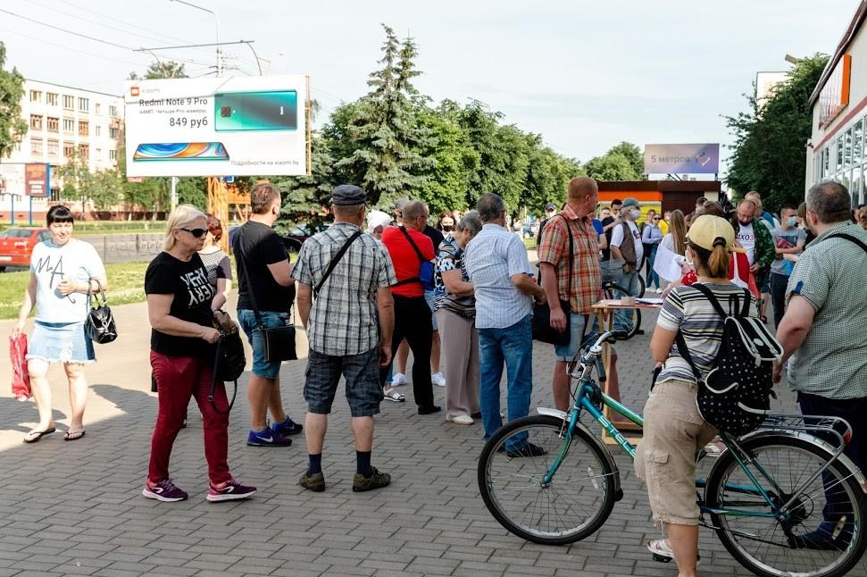 """В центре Бобруйска прошёл """"Пикет солидарности"""". Есть задержанные"""