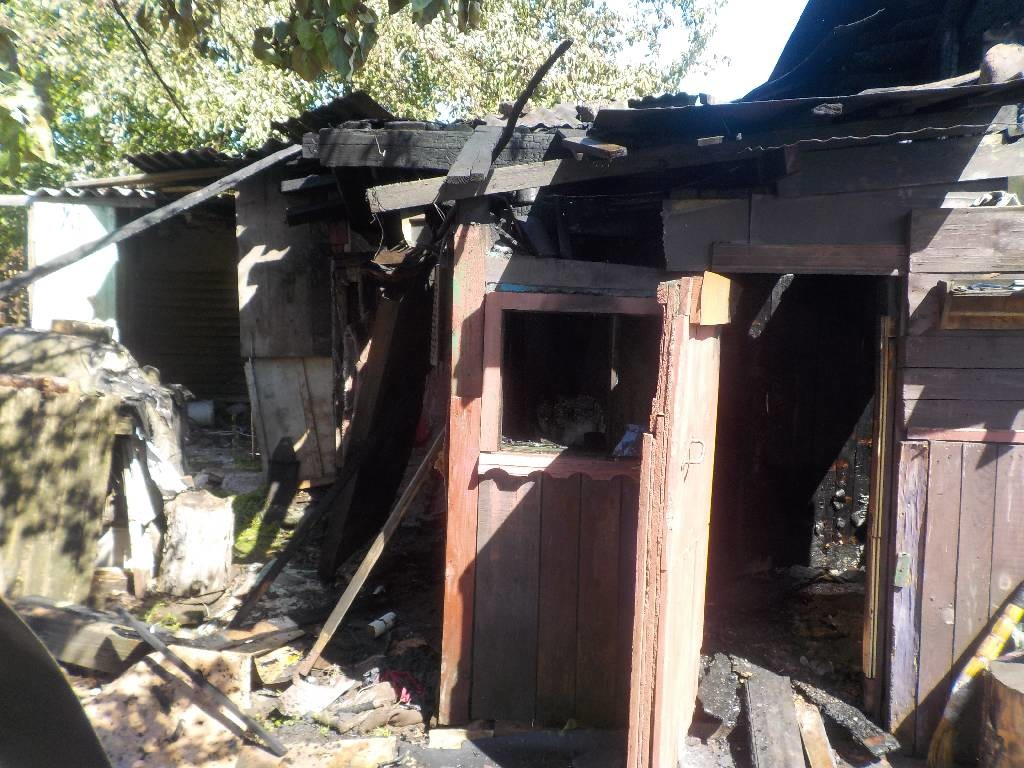 На выходных в Бобруйске горела баня