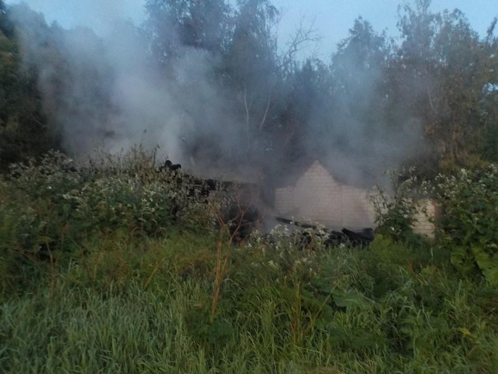 пожар в деревне Бирча