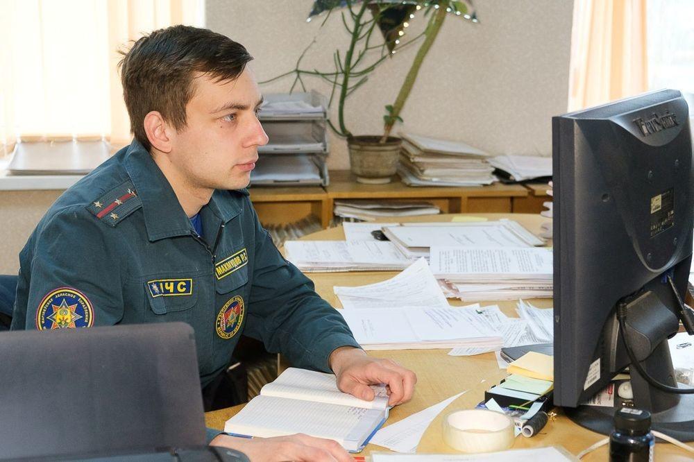 Ко Дню пожарной службы: инспекция надзора и профилактики Бобруйского ГРОЧС в лицах