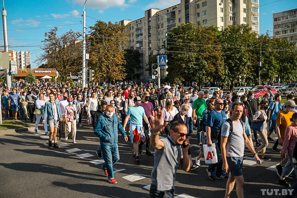 Говорят, на пикет Тихановской пришло 63 тысячи человек. Как это подсчитали?