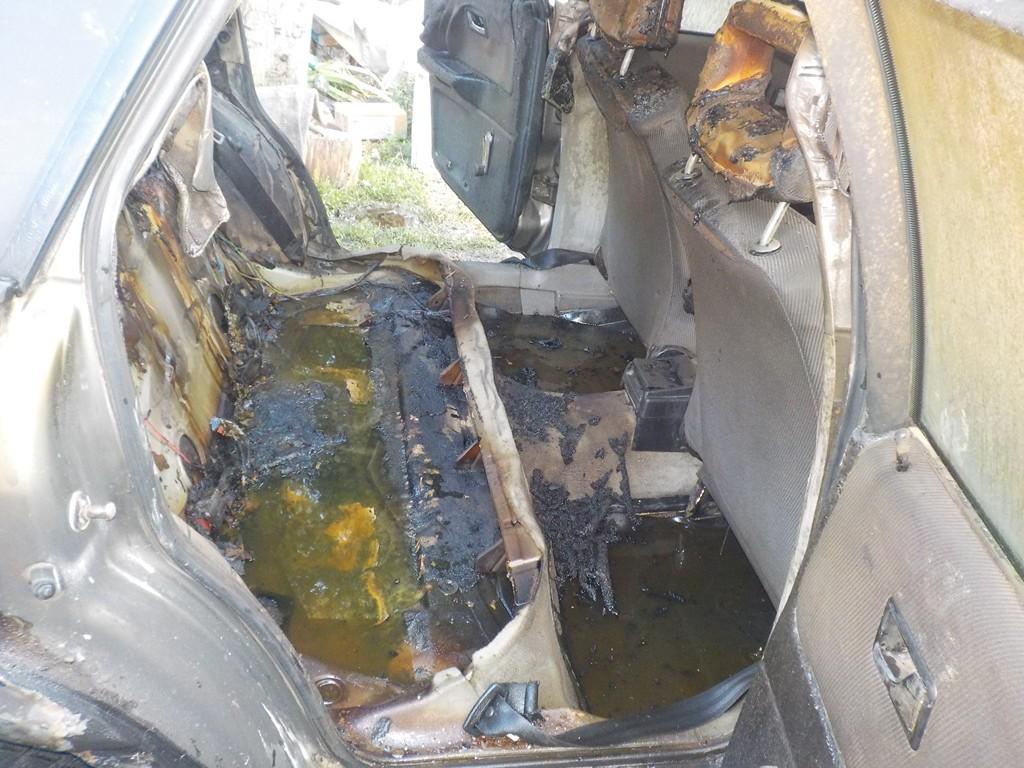 В деревне Телуша горел автомобиль