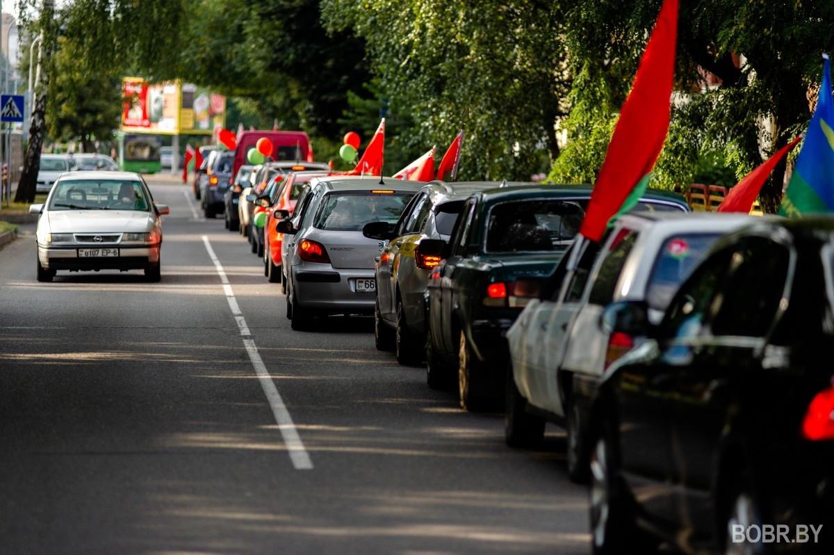 В Бобруйске прошёл автопробег в поддержку Александра Лукашенко. Фоторепортаж