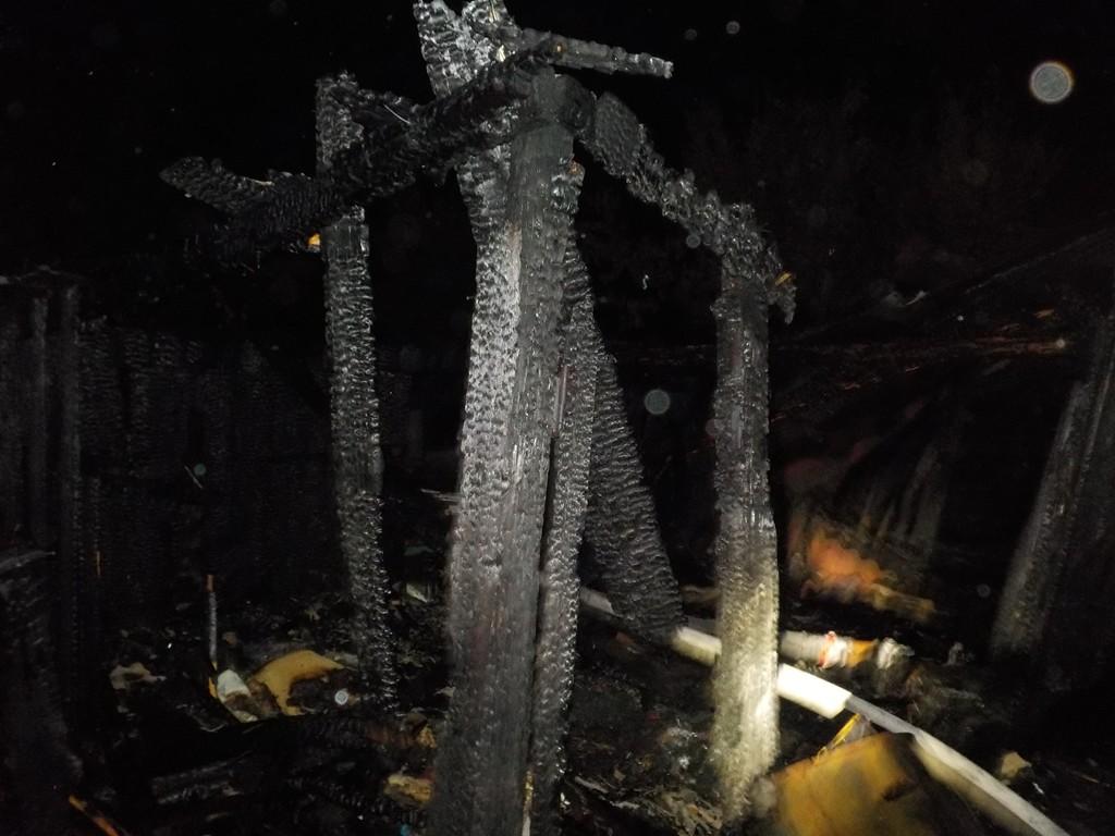горел нежилой дом