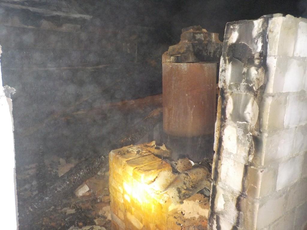 горела баня