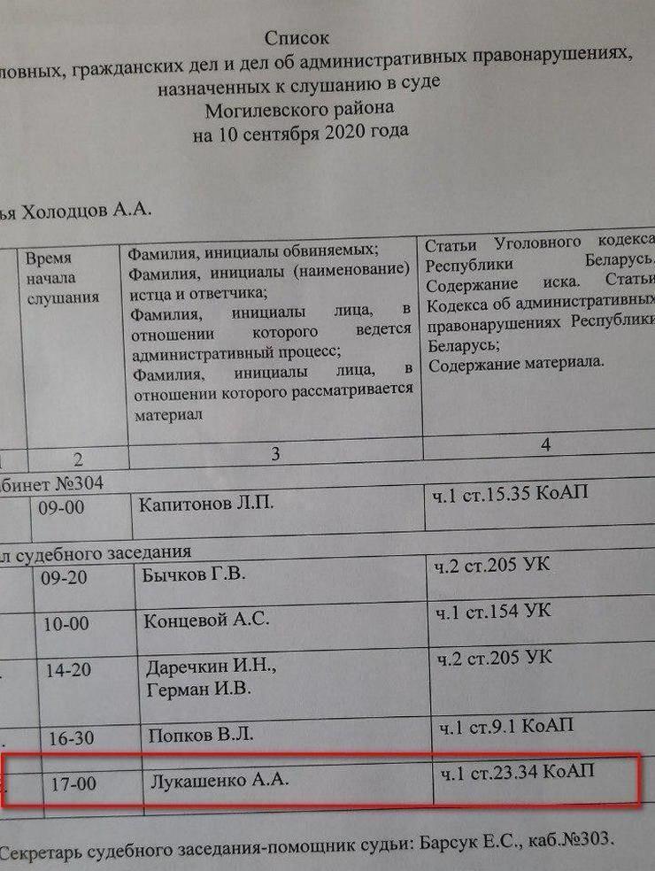 В Могилеве судят Лукашенко. Фотофакт