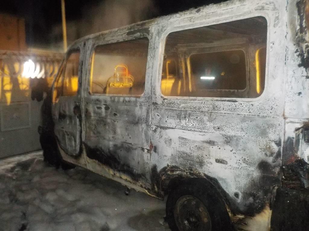 В Бобруйске сгорел автомобиль