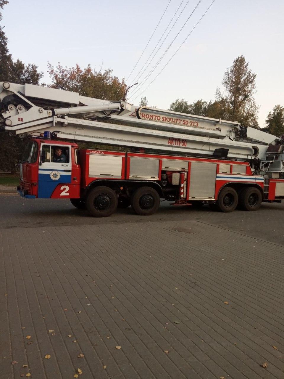 В Бобруйске на башнях появились рисунки бело-красно-белых флагов