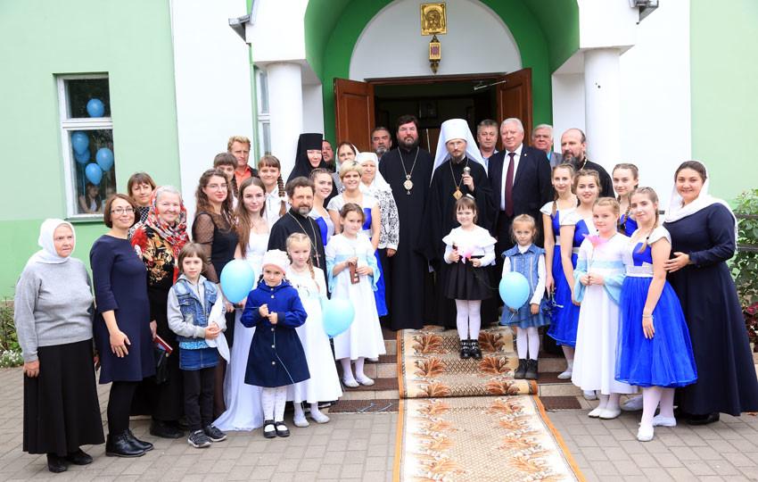 Новый митрополит впервые посетил Бобруйскую епархию и православную гимназию