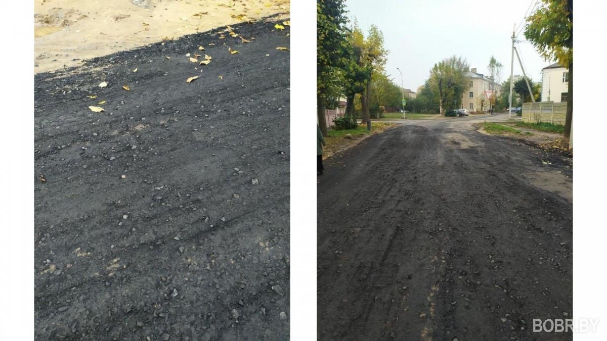 На улице Чонгарской восстановили дорогу после замены труб теплотрассы