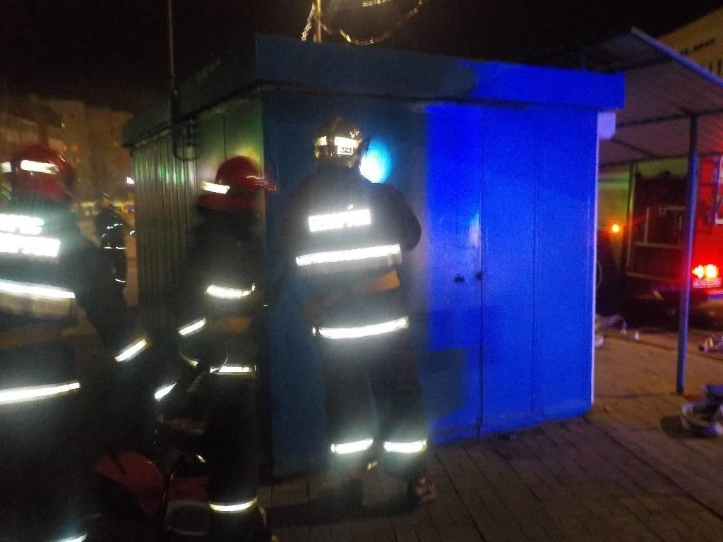 На улице Батова горел киоск