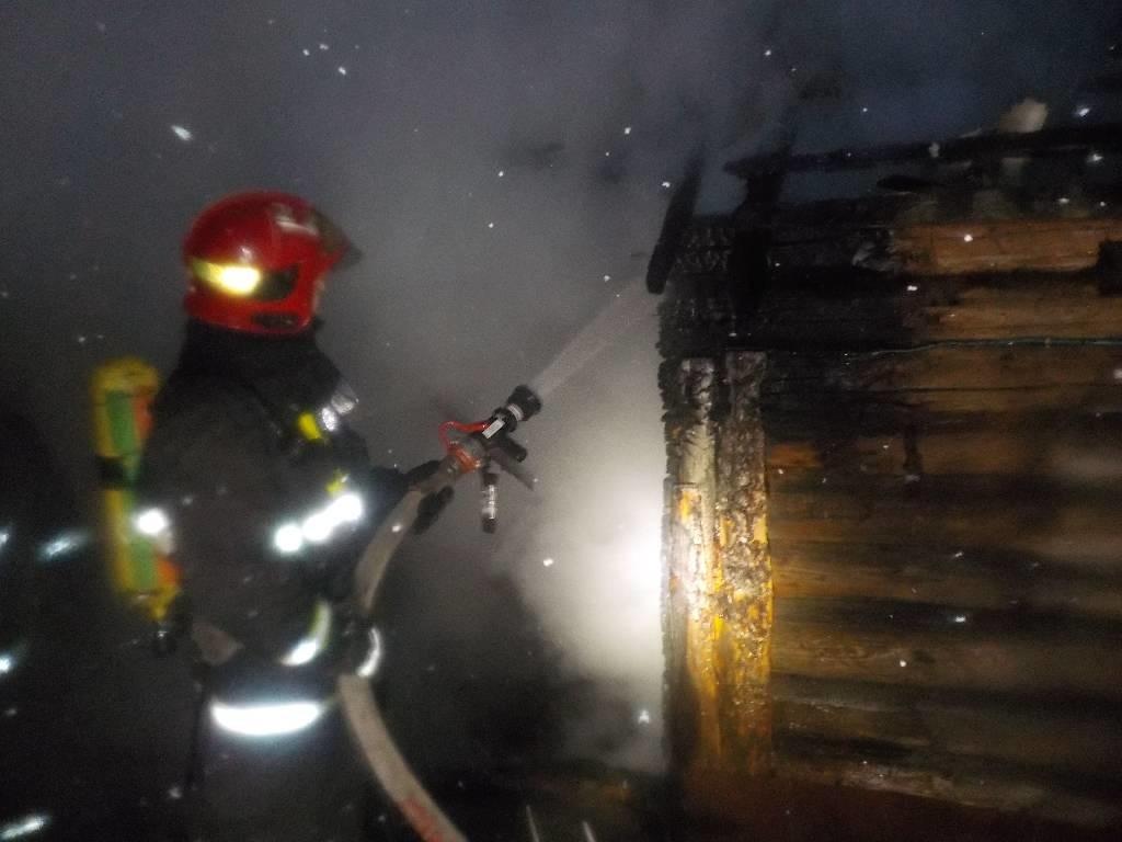 На улице Лесной горела баня
