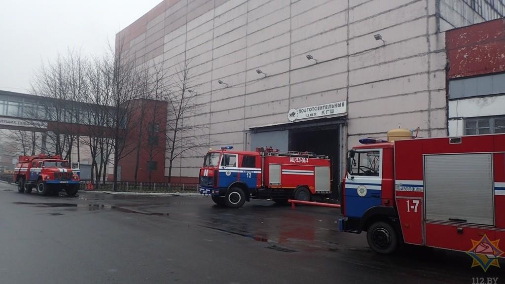 На «Белшине» произошел пожар. Эвакуировали 40 человек
