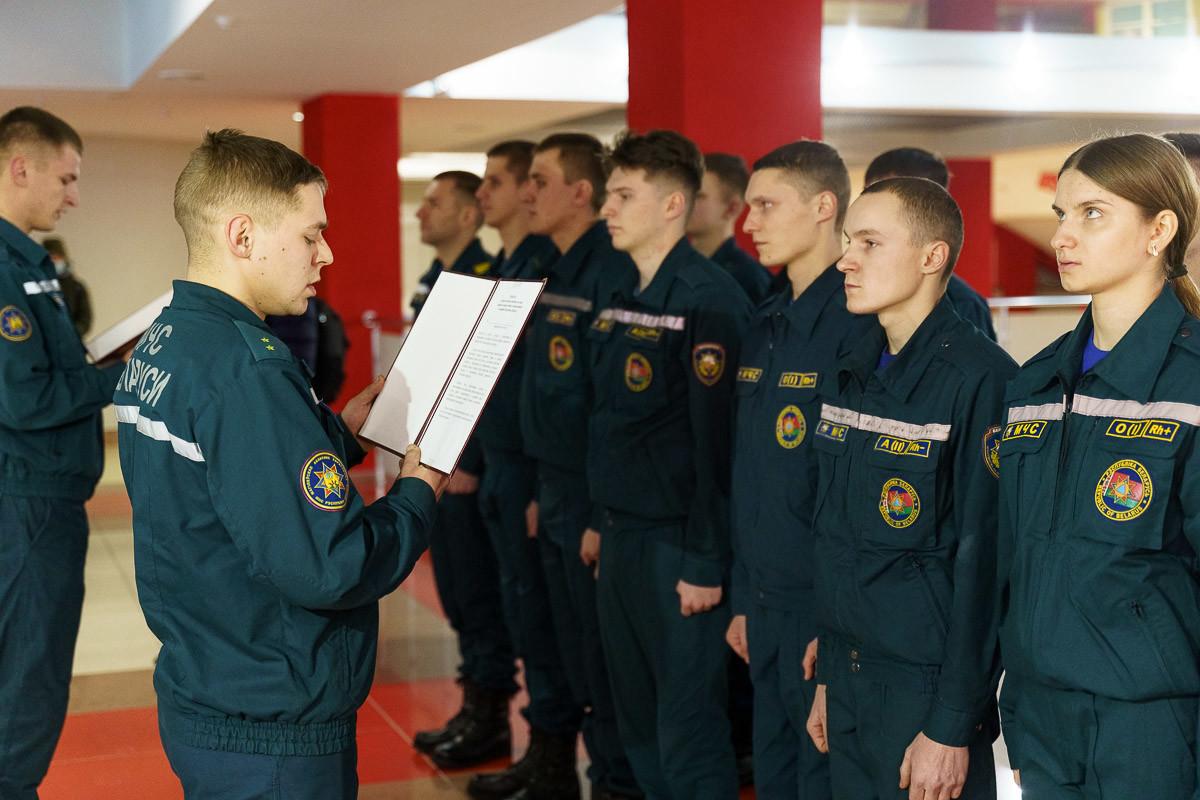 Присяга спасателей и вручение наград. Как отметили свой профессиональный праздник спасатели бобруйщины