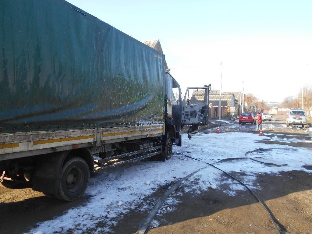 В Бобруйске горел грузовик