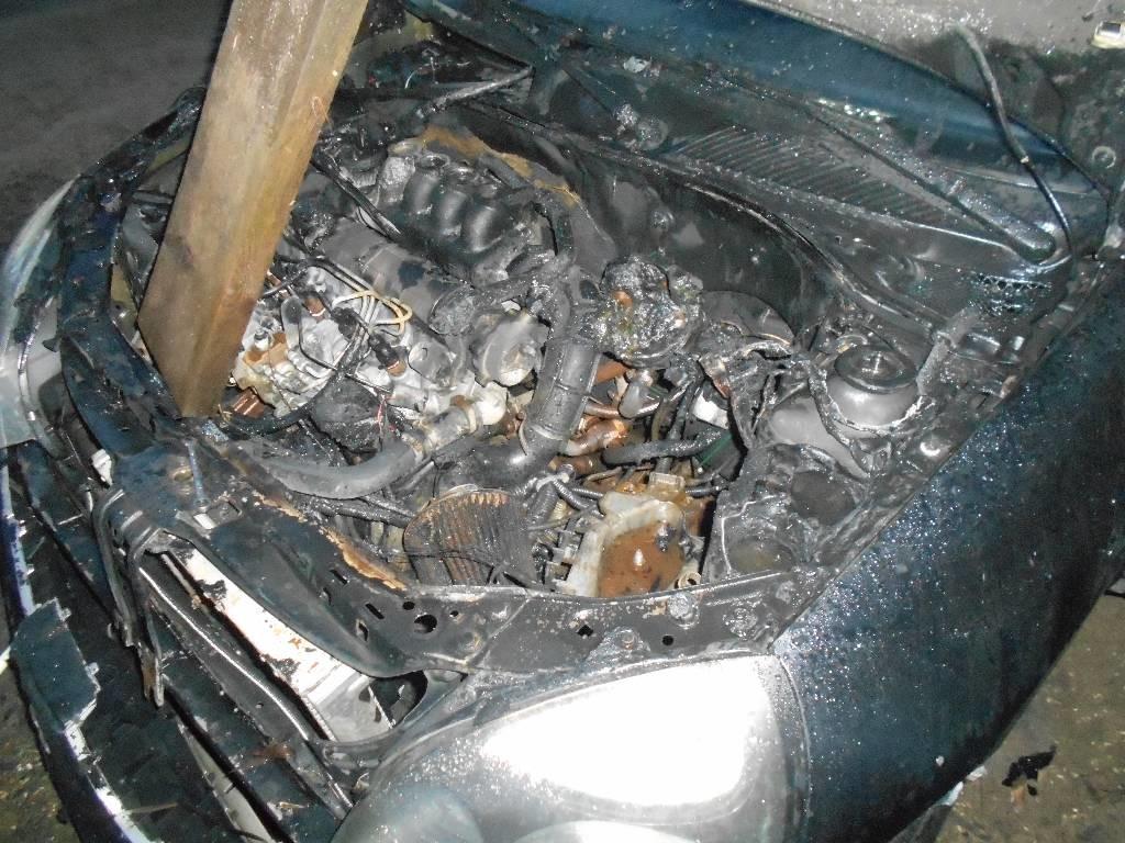 В Бобруйске на Береговой горел автомобиль