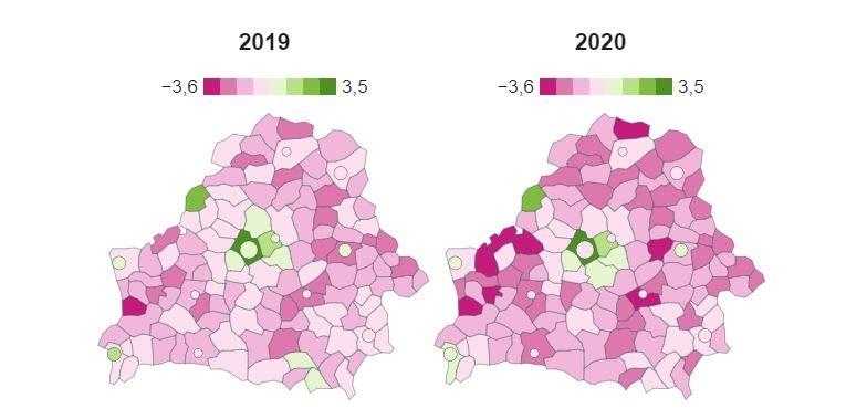 Бобруйский район — в числе аутсайдеров поприросту населения на Могилевщине