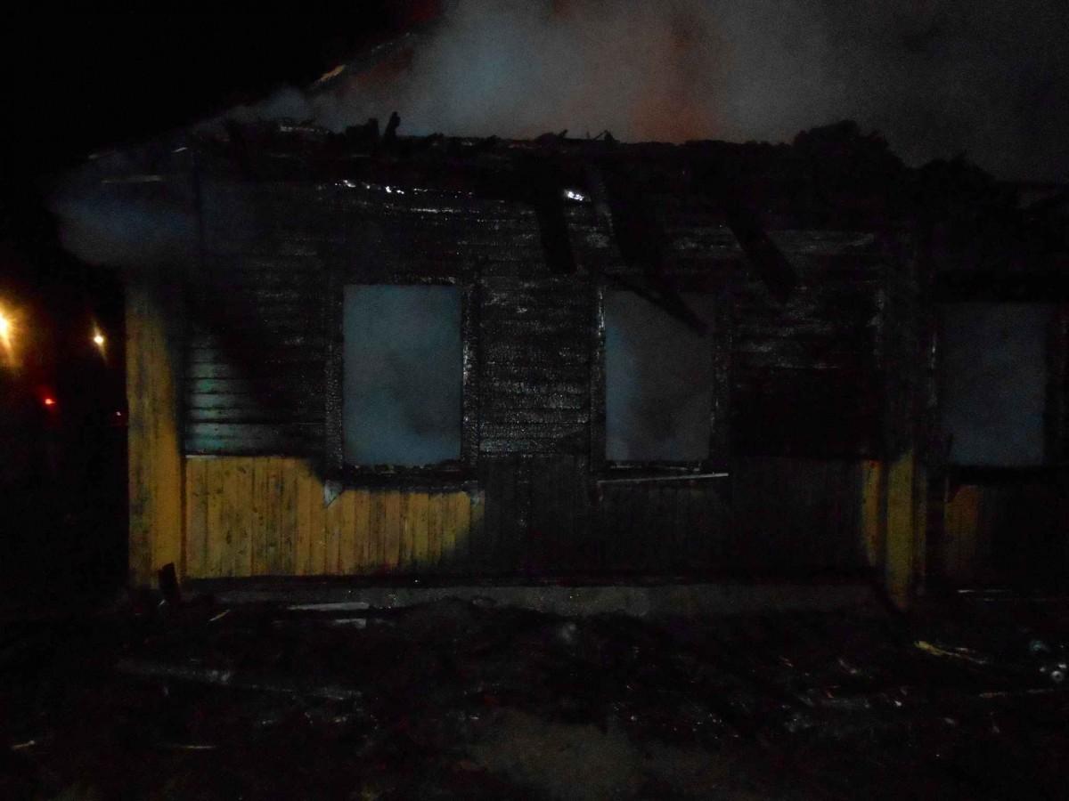 В Бобруйском районе горел дом