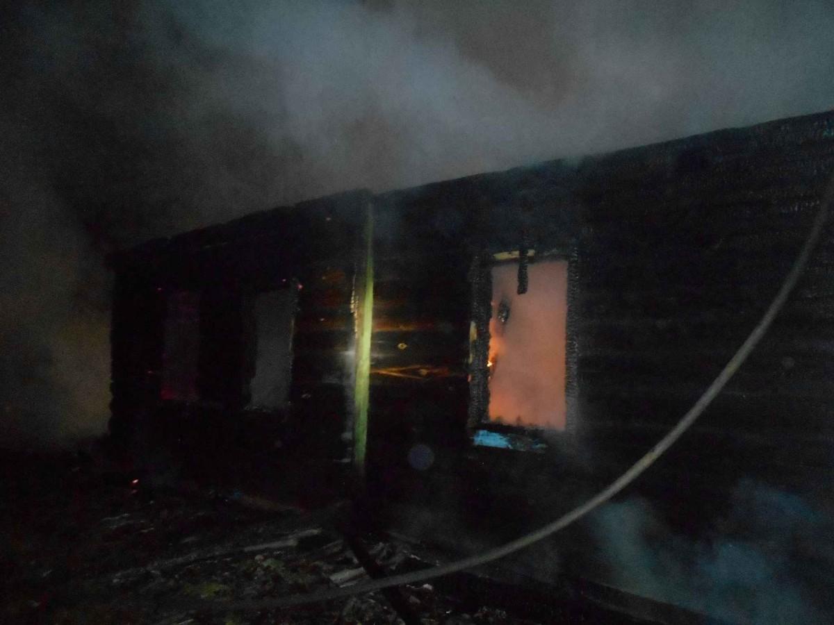 В Бобруйском районе сгорел дом