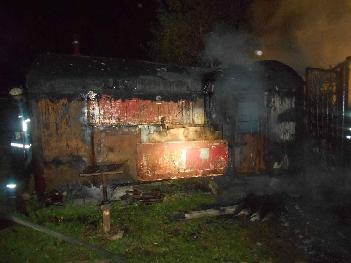 В деревне Околица Бобруйского района горела хозпостройка