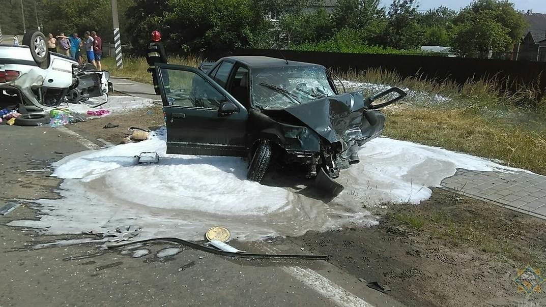 Жесткая авария в Осиповичах: один человек погиб, четверо в больнице
