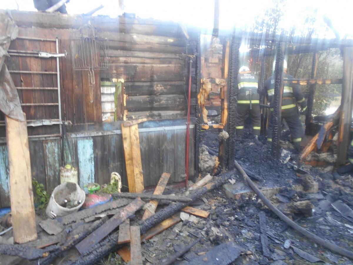 В деревне Сычково Бобруйского района спасатели ликвидировали пожар