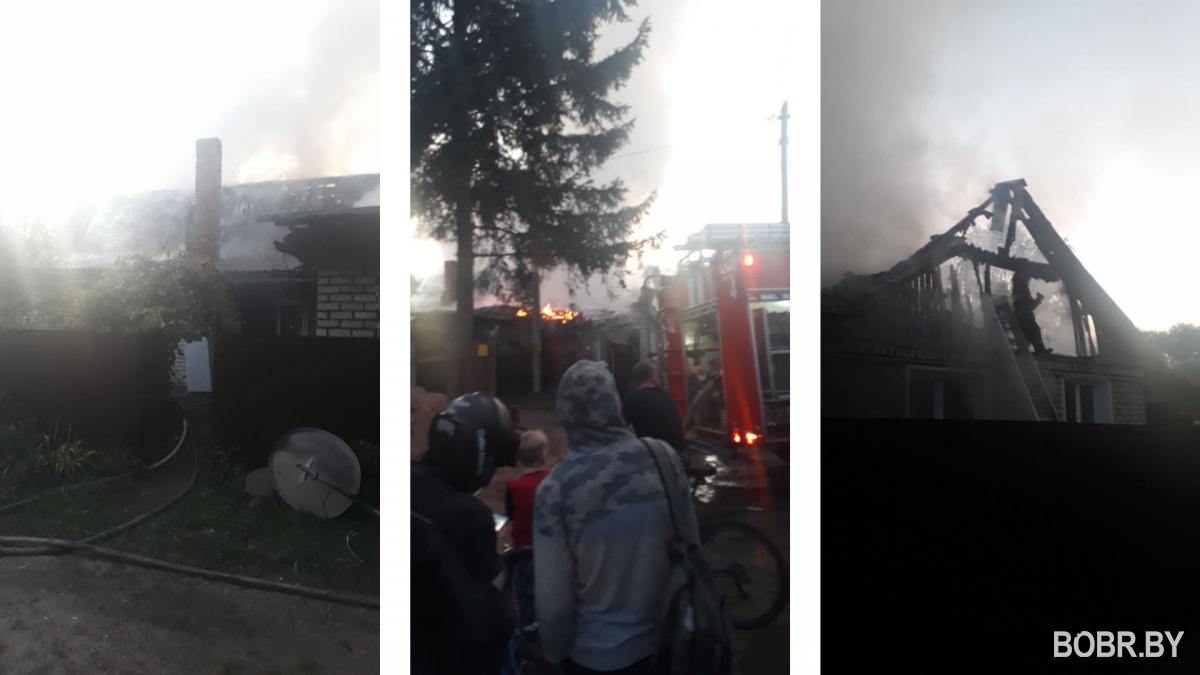 На улице Мопра произошёл пожар