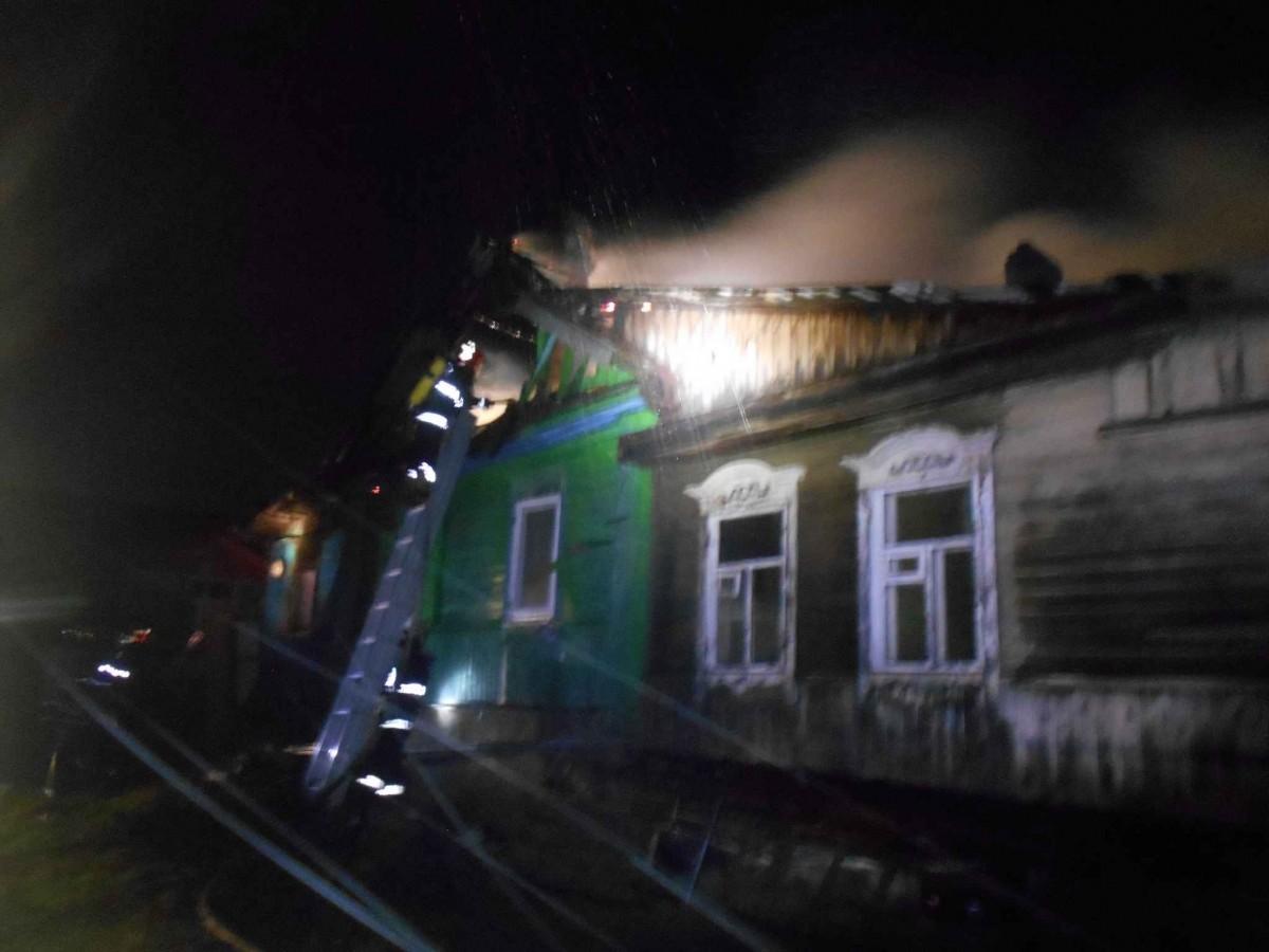 Пожар по переулку Крестьянскому.