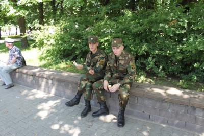 У солдатиков выходной