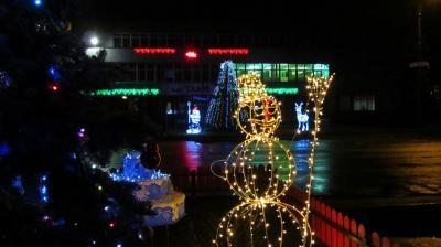 Новогодний Бобруйск. Район ТАиМ и Домочай.